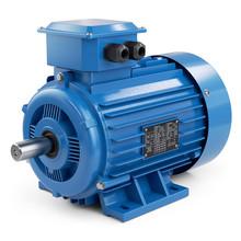 Industrial Electric Motor Blue