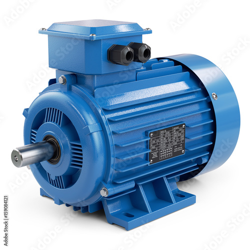 Fotografia, Obraz Industrial electric motor blue