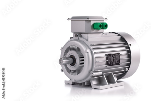 Photo  Industrial electric motor silver