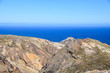 Geological landscape to the north east of the island near Pico Juliana, Porto Santo Island, Madeira