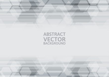 Vector Geometric Gray Abstract Background