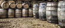 Glenbeg, Ardnamurchan / Scotland - May 26 2017 : Ardnamurchan Distillery Is Producing Whisky Since 2014 And Actually Expanding Their Warehouses