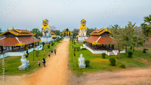 Keuken foto achterwand Temple Pupet show in Kanchanaburi