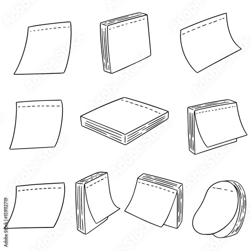 Fototapety, obrazy: vector set of memo note