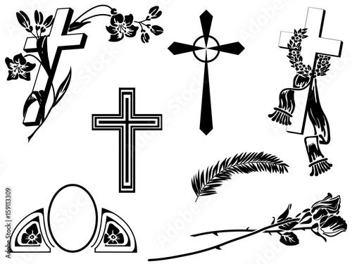 Foto Funeral announcement elements