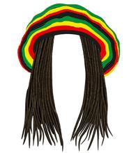 Jamaican Rasta Hat.Hair Dreadl...