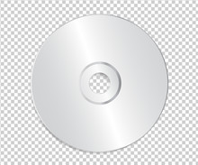 Blank CD Template On Transpare...