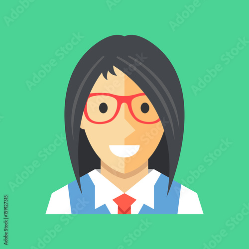 Vector Woman Icon Businesswoman Office Manager Banker