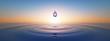 Leinwandbild Motiv Wassertropfen im weiten Ozean