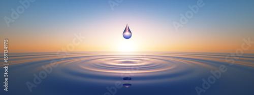 Fotografie, Obraz  Wassertropfen im weiten Ozean