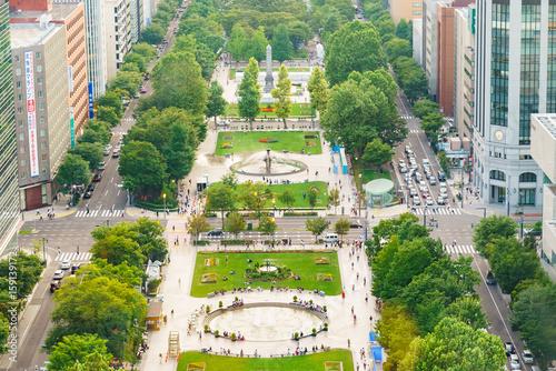 【北海道】札幌大通り公園 テレビ塔からの眺め