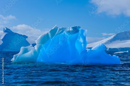 Papiers peints Antarctique Wonderful transparent iceberg in Antarctica