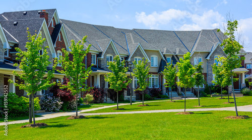Fototapeta Luxury houses in North America obraz