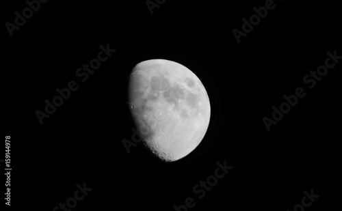 Waxing Gibbous Moon in San Diego, June 8 2017 Canvas Print