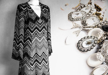 Fashionable Vintage Dress And Accessories