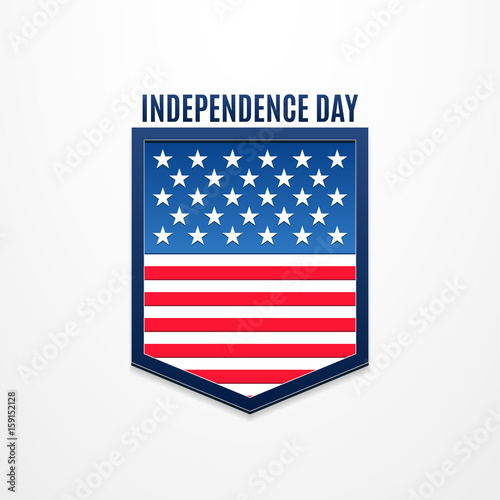 Happy independence day greeting logo banner 4 july american happy independence day greeting logo banner 4 july american holiday vector illustration for m4hsunfo