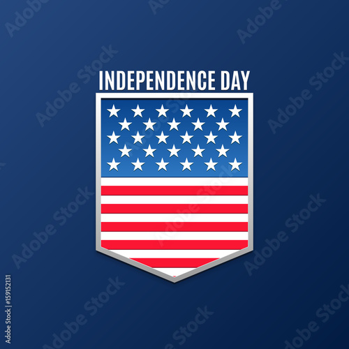Happy independence day greeting logo banner 4 july american happy independence day greeting logo banner 4 july american holiday vector illustration for poster brochure news design sale buy this stock vector m4hsunfo