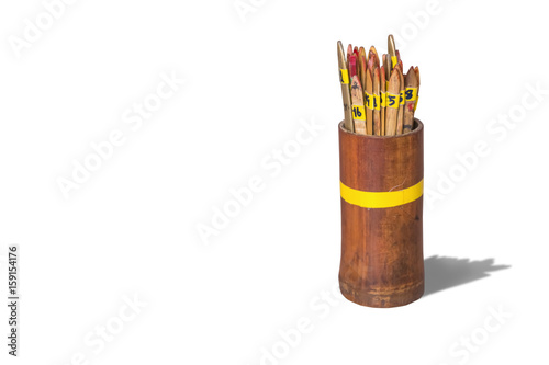 Photo  Chi-Chi Sticks(Seam-si),isolated on white background with clipping path