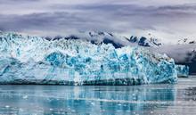 Hubbard Glacier And Reflection