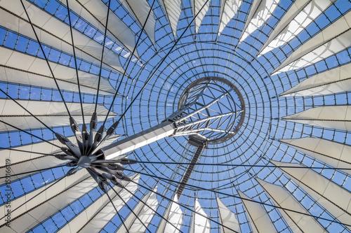 Fotografie, Obraz  Futuristic roof of the Sony Center in Potsdamer Platz in Berlin