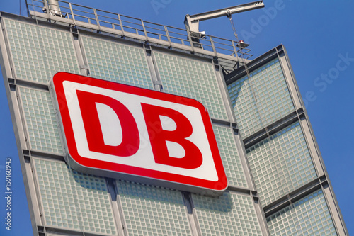 The logo of the brand Deutsche Bahn