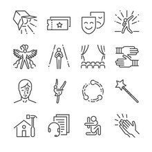 Performance Line Icon Set. Inc...