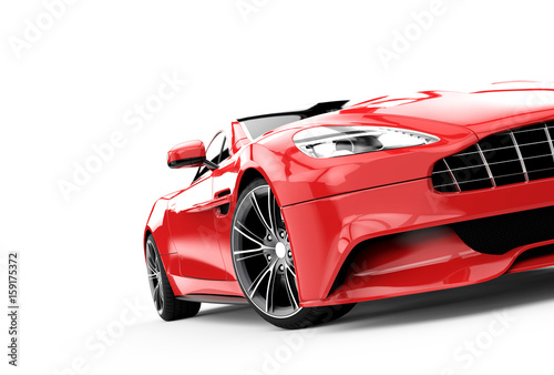 red-luxury-car-isolated-on-a-white-background