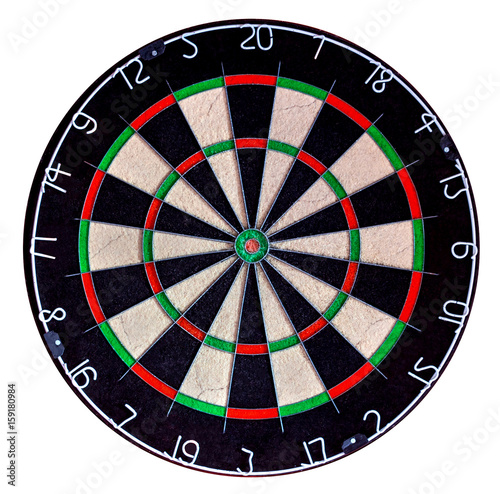 Fotomural Target dartboard isolate on white background