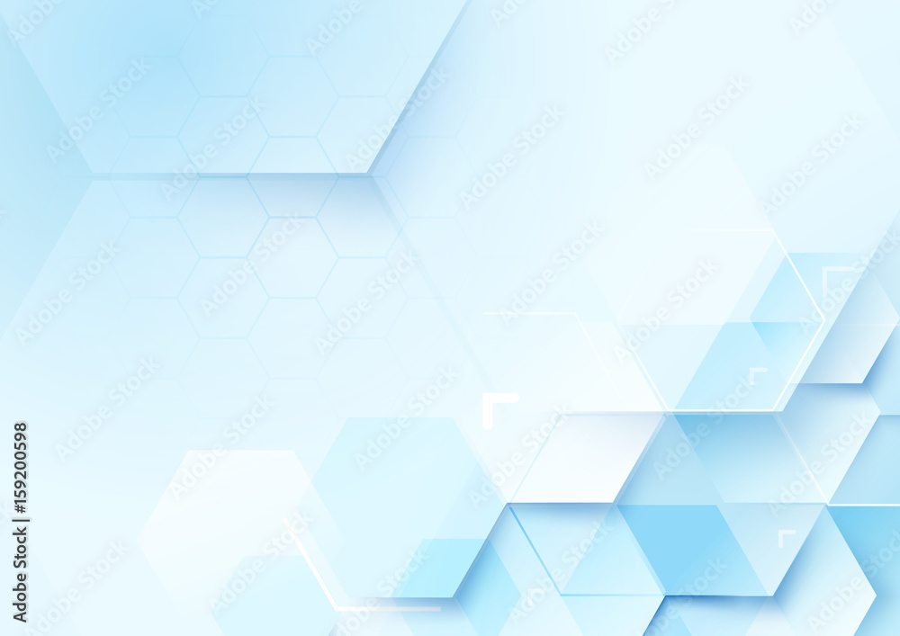 Fototapeta Abstract geometric shape technology digital hi tech concept background. Space for your text
