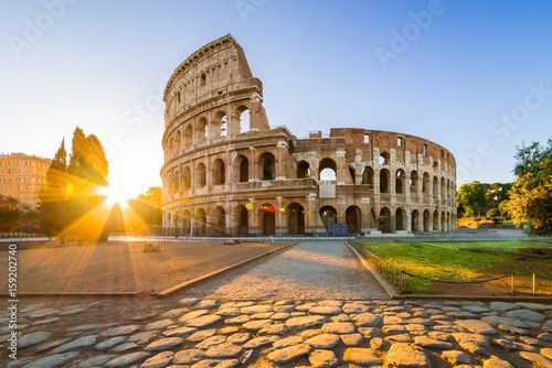 Colosseum at sunrise, Rome, Italy, Europe Fototapet