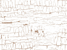 Vector Old Cracked Bright Paint On Brown Wall Seamless Pattern Endless Texture