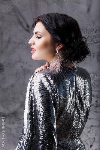 Fashion Portrait Professionally Retouched Girl Brunette Beautiful