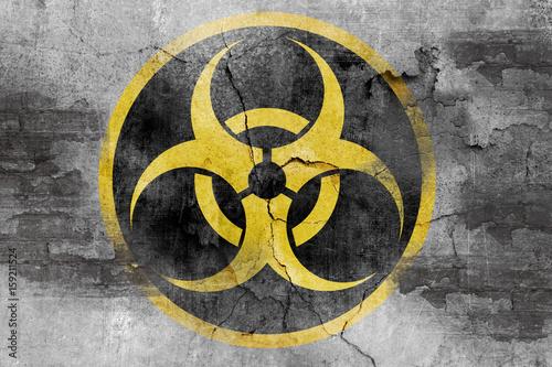 Photo grunge biohazard symbol
