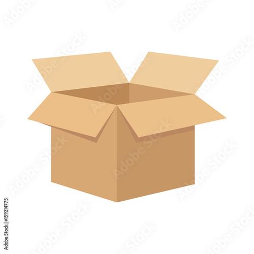 Fotografía  Open flat box.