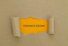 Convertibles Word Written Unde...