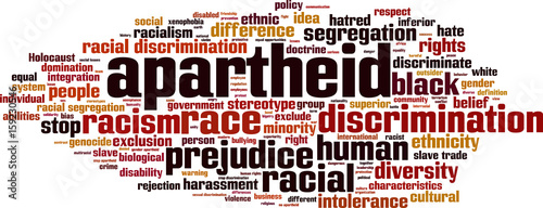 Apartheid word cloud Fotobehang
