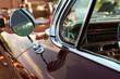 retro vintage red car