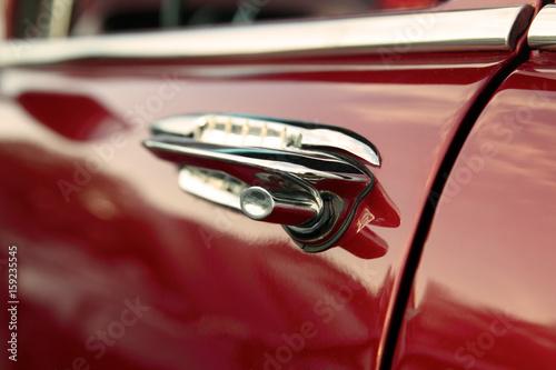 classic retro  vintage red car Canvas