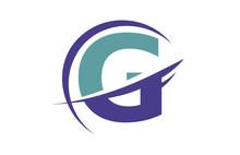 G Global Swoosh Letter Logo