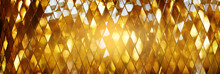 Shining Golden Mosaic Glass Ba...