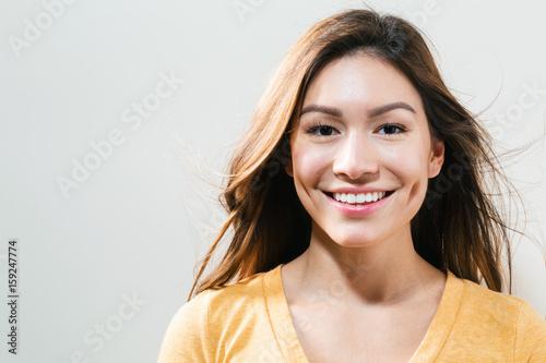 Obraz na plátně  Happy young woman