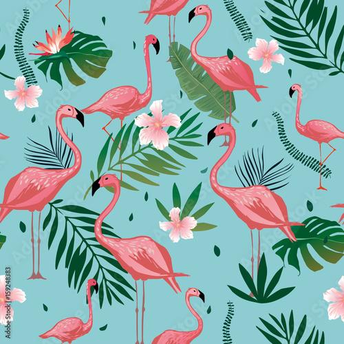 rozowy-flaming-bezszwowy-wzor-z-tropikalnymi-liscmi-i-kwiatami-wektorowy-tlo-projekt-z-flamingami-dla-tapety-tkaniny-tkaniny