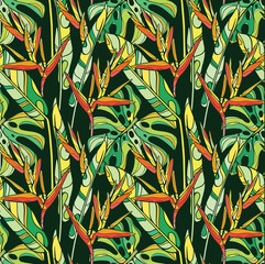 FototapetaSeamless vector tropical pattern