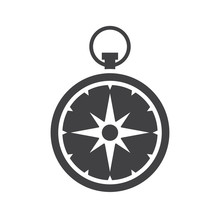 Compass Vector Icon Isolated O...