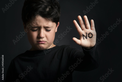 Photo niño maltratado