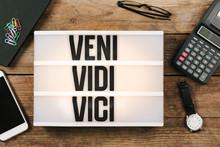 Veni, Vidi, Vici In Vintage St...