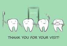 Happy Cartoon White Teeth With...