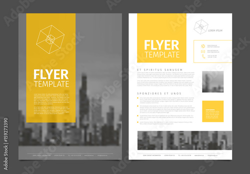 buy brochure templates - modern brochure template flyer design vector template