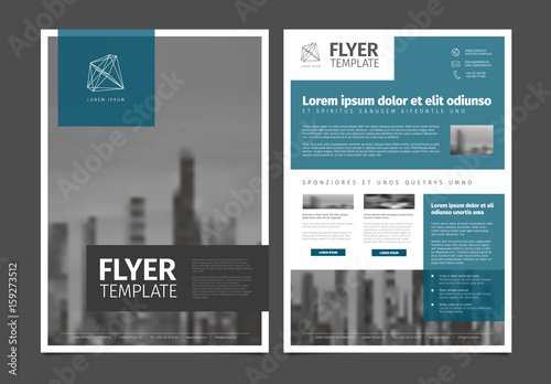 Fototapeta Modern brochure template flyer design vector template obraz