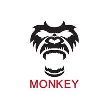 Monkey Vector Decorative Emblem Illustration